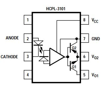 HCPL-3101 DIP-8 Power MOSFET//IGBT Gate Drive USA ship
